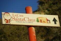 Casa de Papa Noel en Navidad